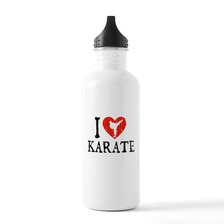 I Heart Karate - Girl Stainless Water Bottle 1.0L