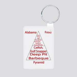 Alabama Food Pyramid Aluminum Photo Keychain