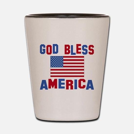 Cute Best selling god bless america Shot Glass
