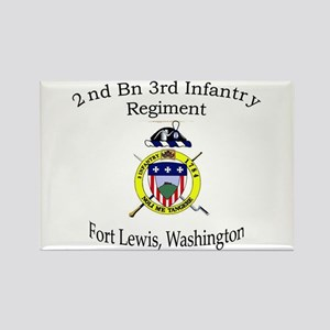 2nd Bn 3rd Infantry Regiment Rectangle Magnet