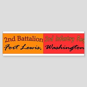 2nd Bn 3rd Infantry Regiment Sticker (Bumper)