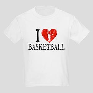 I Heart Basketball - Guy Kids Light T-Shirt