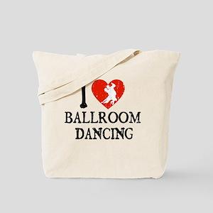 I Heart Ballroom Dancing Tote Bag