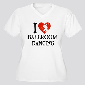 I Heart Ballroom Dancing Women's Plus Size V-Neck