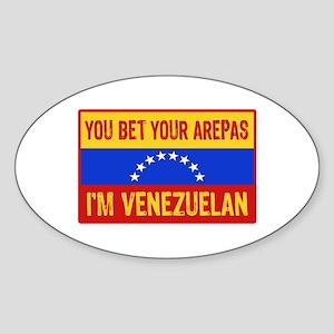 Funny Venezuelan Sticker (Oval)