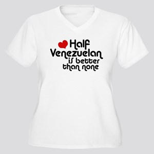 Half Venezuelan Women's Plus Size V-Neck T-Shirt