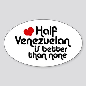 Half Venezuelan Sticker (Oval)