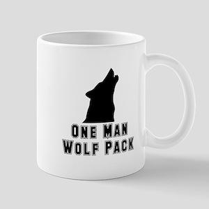 One Man Wolf Pack Mug