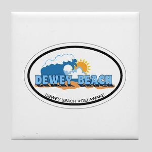 Dewey Beach DE - Oval Design Tile Coaster
