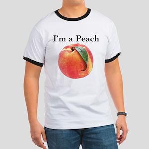 Peach Ringer T