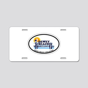 Dewey Beach DE - Oval Design Aluminum License Plat