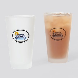 Dewey Beach DE - Oval Design Drinking Glass