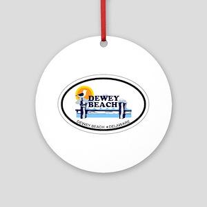Dewey Beach DE - Oval Design Ornament (Round)