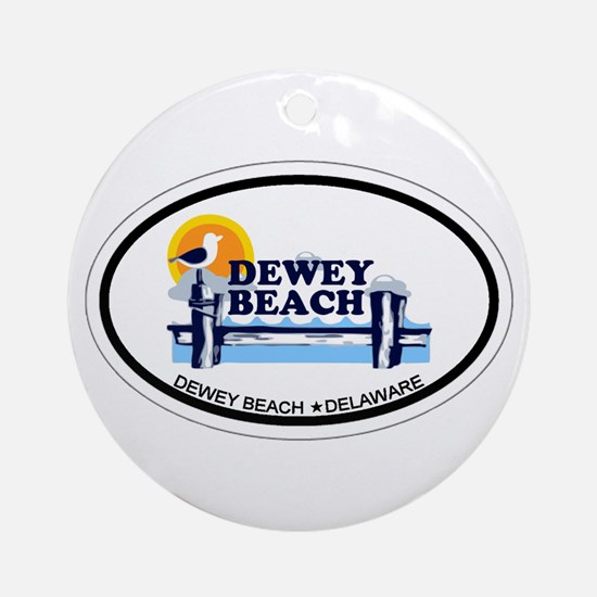 Dewey Beach DE - Oval Design Ornament (Round)