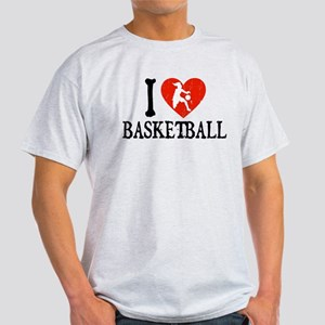 I Heart Basketball - Girl Light T-Shirt