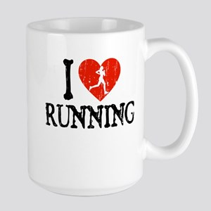 I Heart Running - Girl Large Mug