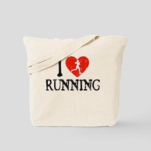 I Heart Running - Girl Tote Bag