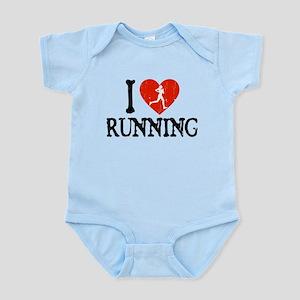 I Heart Running - Girl Infant Bodysuit