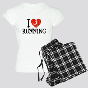 I Heart Running - Girl Women's Light Pajamas