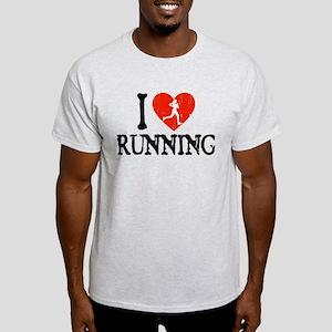 I Heart Running - Girl Light T-Shirt