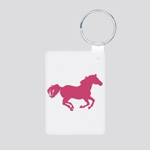 Equestrian Aluminum Photo Keychain