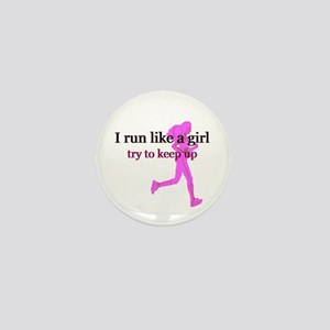 I Run Like a Girl Mini Button
