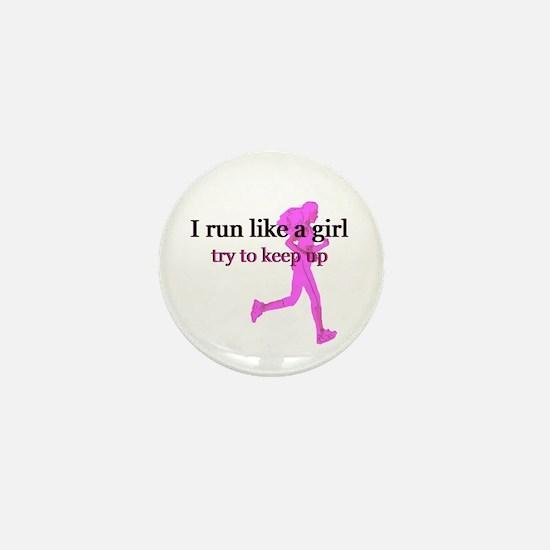 I Run Like a Girl Mini Button