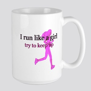 I Run Like a Girl Large Mug