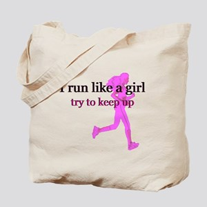 I Run Like a Girl Tote Bag