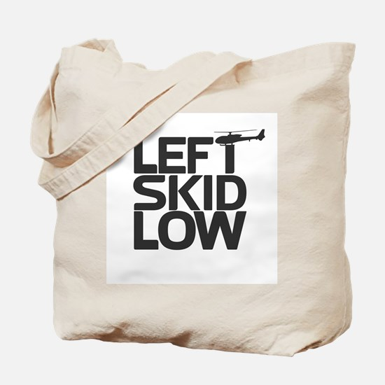 """Left Skid Low"" Tote Bag"