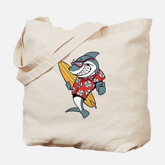 Surfer Shark Tote Bag