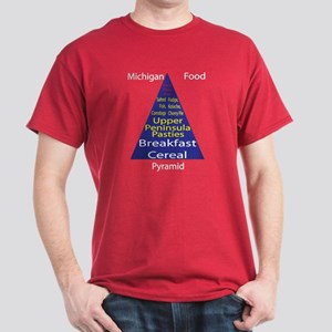 Michigan Food Pyramid Dark T-Shirt