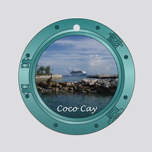 Coco Cay Cruise Ship Ornament (Round)