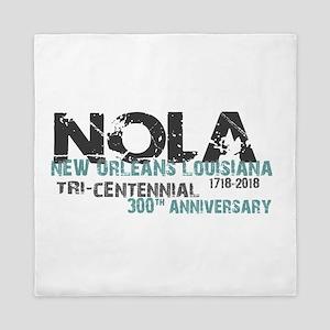 New Orleans, NOLA, Tri-Centennial Queen Duvet
