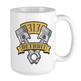 Detroit 313 Large Mugs (15 oz)