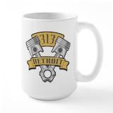 Detroit 313 Large Mugs (15 oz)