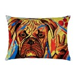 Boxer Peace Sign Rectangular Throw Pillow