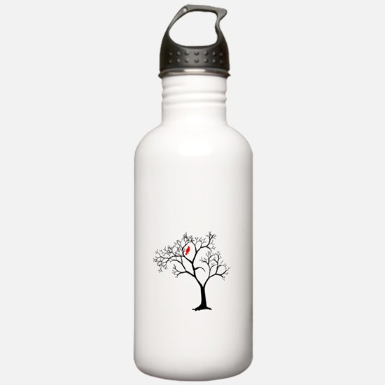 Cardinal in Snowy Tree Water Bottle