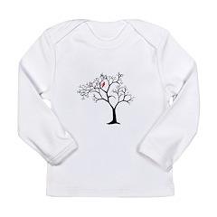 Cardinal in Snowy Tree Long Sleeve Infant T-Shirt
