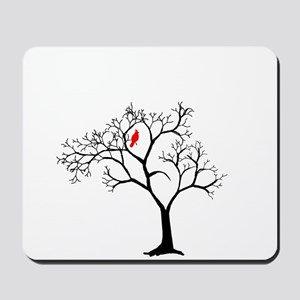 Cardinal in Snowy Tree Mousepad