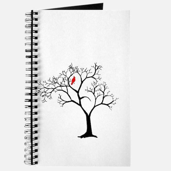 Cardinal in Snowy Tree Journal