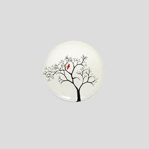 Cardinal in Snowy Tree Mini Button