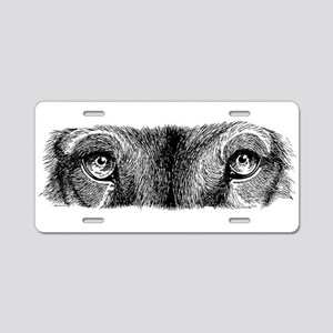 Wolf Eyes Aluminum License Plate