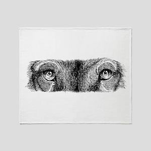 Wolf Eyes Throw Blanket