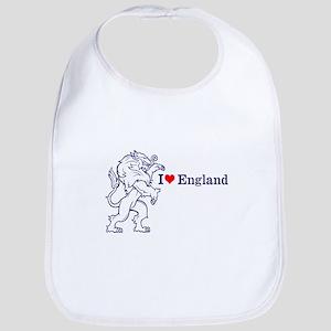 Blue Love England Bib