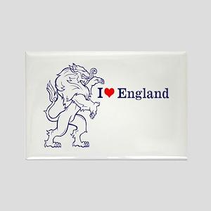 Blue Love England Rectangle Magnet
