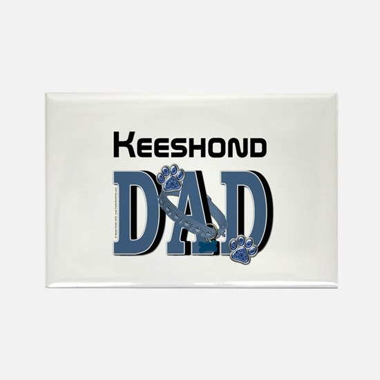 Keeshond DAD Rectangle Magnet
