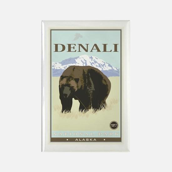 National Parks - Denali Rectangle Magnet
