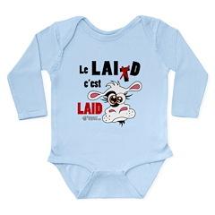 Le Lait c'est laid - Long Sleeve Infant Bodysuit