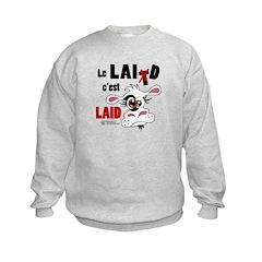 Le Lait c'est laid - Kids Sweatshirt